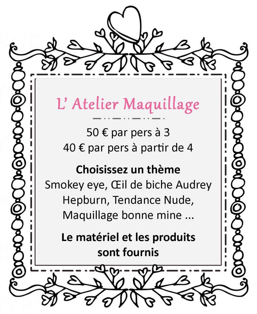 L'atelier maquillage Spaparty.fr